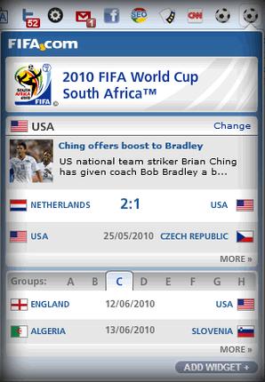 Tabela e notícias da Copa do Mundo