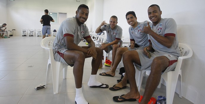 Treino Fluminense novo CT (Foto: NELSON PEREZ/FLUMINENSE F.C.)