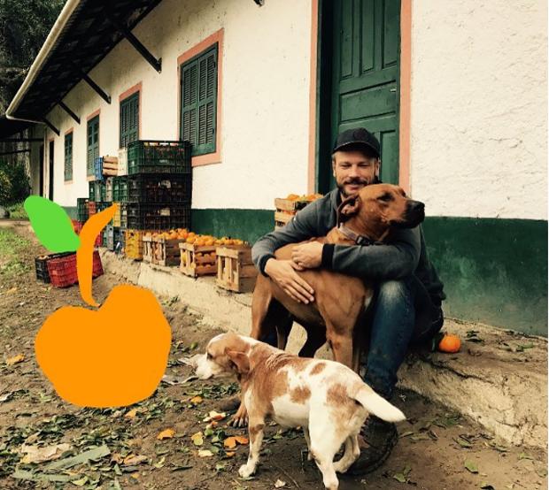 Rodrigo abraçando os cachorros (Foto: Reprodução/ Instagram)