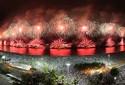 Show de fogos ilumina Copacabana