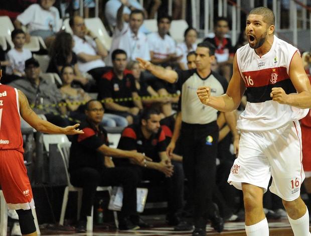 Olivinha Flamengo Paulistano basquete NBB (Foto: Alexandre Vidal / Fla Imagem)