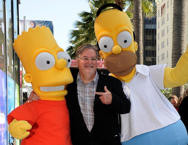 Matt Groening e os Simpsons (Foto: getty images)