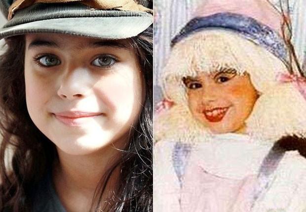 LAURINHA: A boneca será vivida por Amanda Furtado. Na antiga versão, o papel foi de Laura Feliciano (Foto: Reprodução)