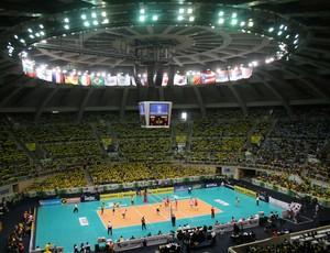 Maracanãzinho será o palco dos jogos Brasil Estados Unidos Liga Mundial de vôlei (Foto: Alexandre Arruda/CBV )