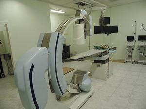 Aparelho de hemodinâmica na Casa de Saúde Dix-Sept Rosado, em Mossoró (Foto: Felipe Gibson/G1)