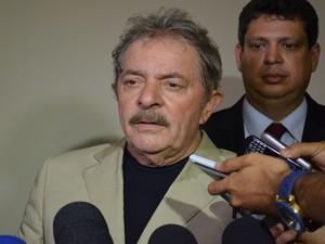 Lula fala sobre a amizade de longa data com Marcelo Déda (Foto: Marina Fontenele/G1)
