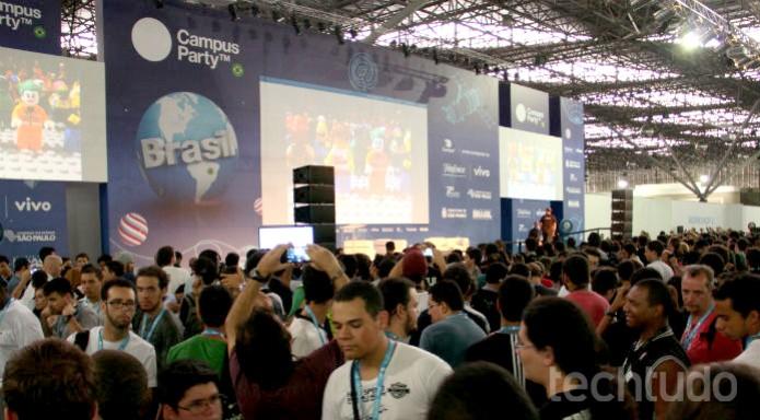 A palestra de Dickinson foi a com o maior público até o momento  (Foto: Renato Bazan/TechTudo)