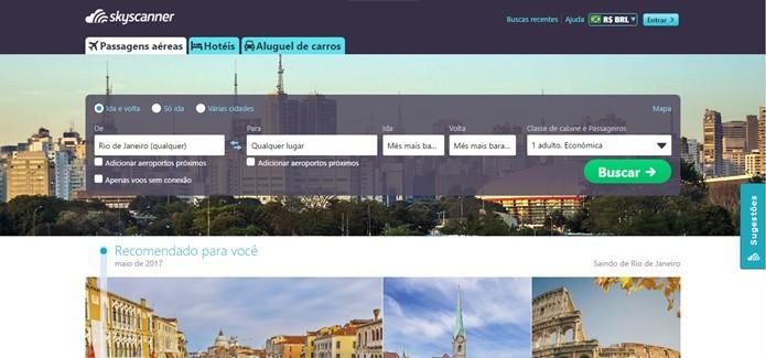 Skyscanner tem um layout mais interessante que o rival Google Flights