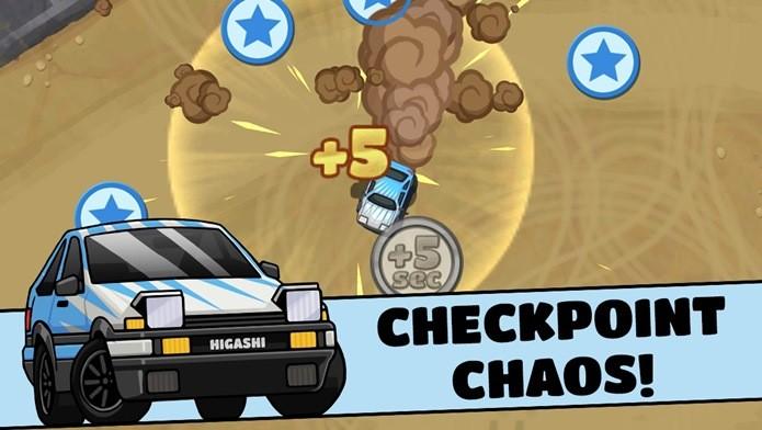 Pegar os Checkpoints é o objetivo deste jogo sem regras (Foto: Divulgação)