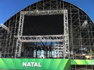 Estrutura da Fifa Fan Fest em Natal está pronta (Foto: Rafael Barbosa/G1)