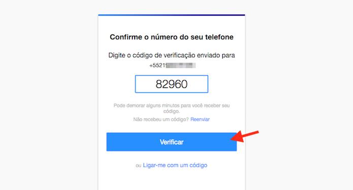 Inserindo o código de confirmação para confirmar seu número de telefone no Yahoo Mail (Foto: Reprodução/Marvin Costa) (Foto: Inserindo o código de confirmação para confirmar seu número de telefone no Yahoo Mail (Foto: Reprodução/Marvin Costa))