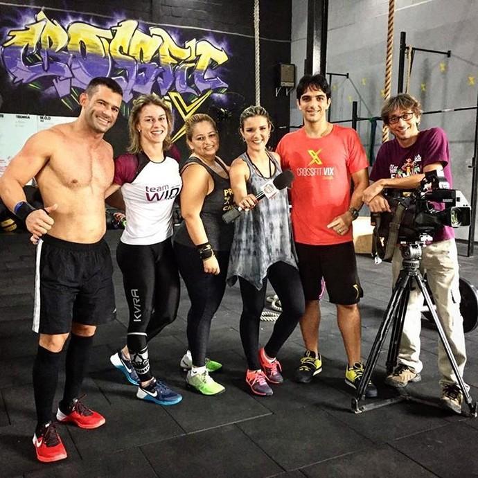 Tati Braga faz matéria de CrossFit (Foto: Divulgação / TV Gazeta ES)