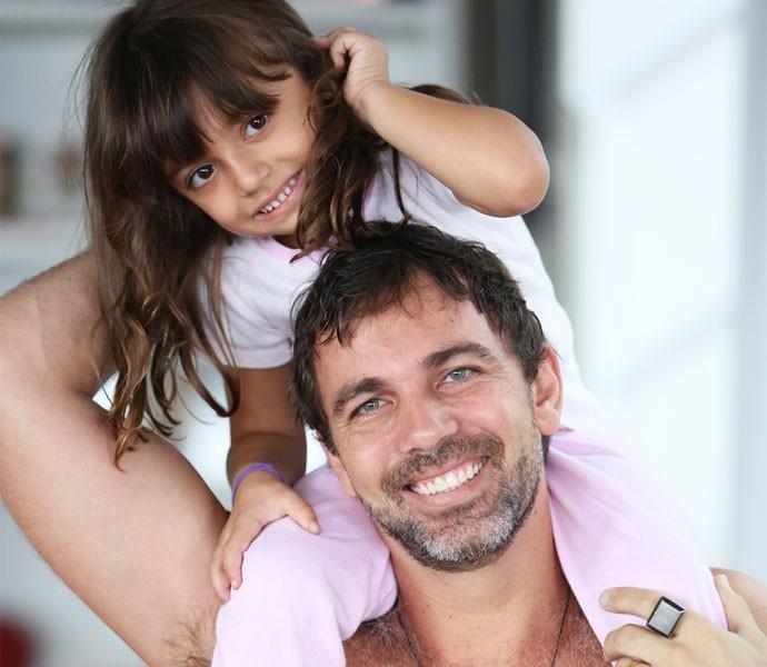 Marcelo Faria e sua filha, Felipa (Foto: Arquivo Pessoal)