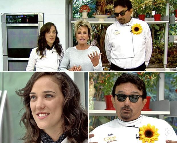 Adriana Birolli e Falcão estão na primeira Panela de Pressão do Super Chef (Foto: Mais Você / TV Globo)