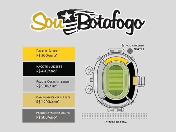"""O """"season ticket"""" do Botafogo para 2017 (Foto: Divulgação)"""