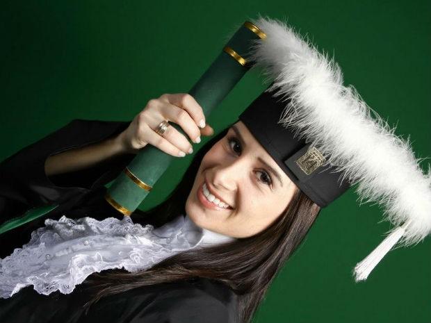 Rafaella de Noronha resolveu começar de novo e trocar de curso após ter se formado (Foto: Arquivo Pessoal)