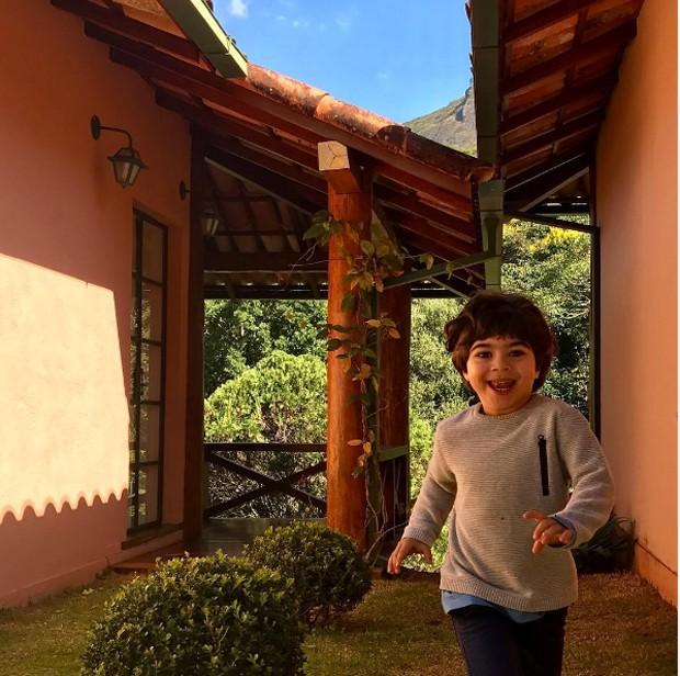 A foto postada pela atriz no dia do aniversário do pequeno (Foto: Reprodução/ Instagram)
