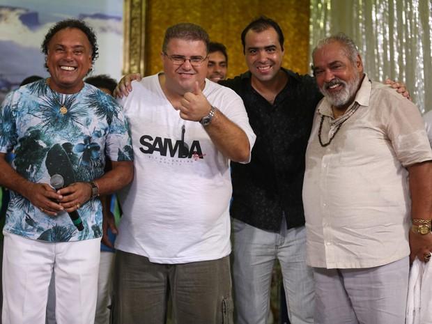 Paulinho Mocidade, Carlos Alexandre Pacheco, Luiz Henrique e Roberto Bonfim (Antoninho) (Foto: Gshow)