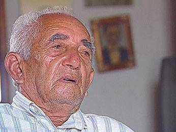 Candeeiro, último cangaceiro do bando de Lampião (Foto: Reprodução / TV Globo)