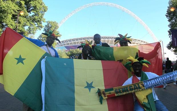 Torcida Senegal (Foto: Cahê Mota / Globoesporte.com)