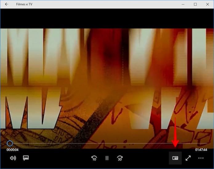 Clique sobre o botão indicado para ativar o PIP (Foto: Reprodução/Helito Bijora)