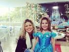 Ex-paquita Cátia Paganote faz festão para comemorar os 6 anos da filha