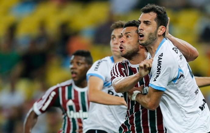 Fred Fluminense x Grêmio (Foto: Alexandre Cassiano / O Globo)