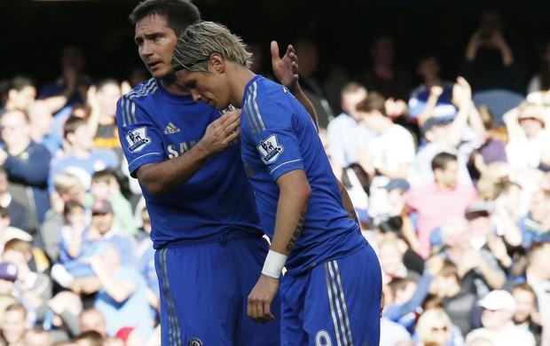 Lampard fernando torres chelsea gol Norwich (Foto: Agência Reuters)