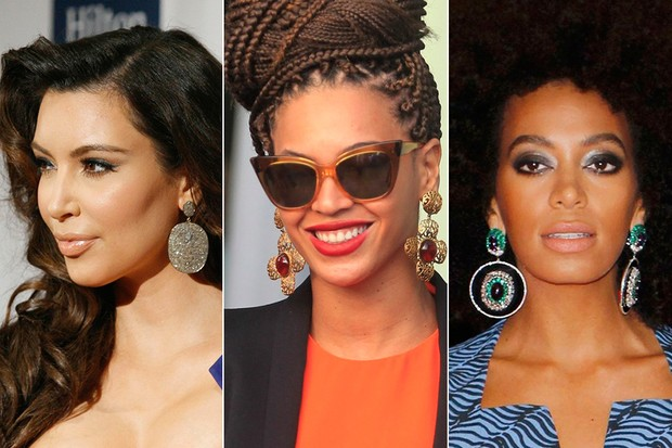 Maxibrincos - Kim Kardasian, Beyoncé e Solange Knowles (Foto: Reuters / Agência)