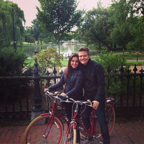 Thais Fersoza e Michel Teló em Boston (Foto: Instagram/Reprodução)