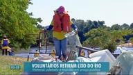 Toneladas de lixo são retiradas de rio em Tangará da Serra