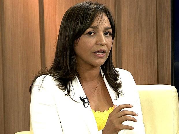 Eliziane Gama, candidata a prefeita de São Luís (Foto: Reprodução/TV Mirante)