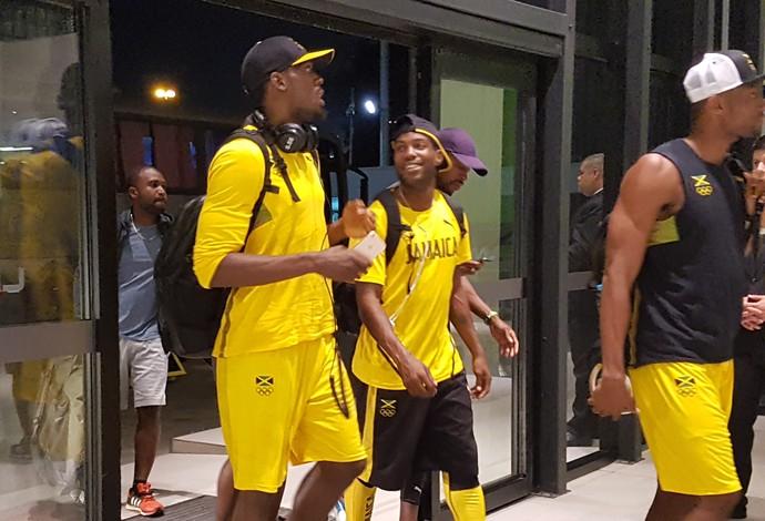 atletismo Usain Bolt chegada hotel (Foto: Helena Rebello)