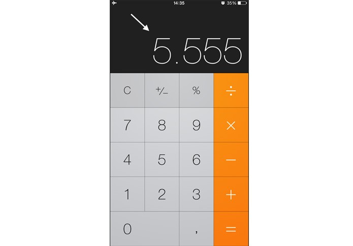 calculadora iphone (Foto: Gabriella Fiszman/ TechTudo)