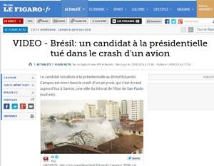 """""""Le Figaro' apontou candidato como de esquerda favorável à economia de mercado. (Foto: Reprodução)"""