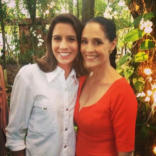 Giana e Sônia Braga (Foto: Arquivo Pessoal)
