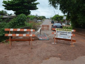 Ponte em Cacoal, RO (Foto: Pâmela Fernandes/G1)