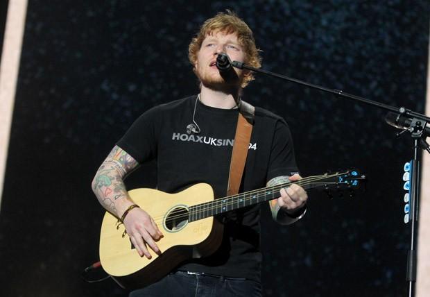 Ed Sheeran em show no Rio de Janeiro (Foto: Marcello Sá Barretto/AgNews)