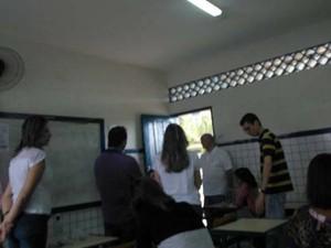 Candidatos acionaram a Polícia Federal para averiguar troca de provas (Foto: Robson Mariano)