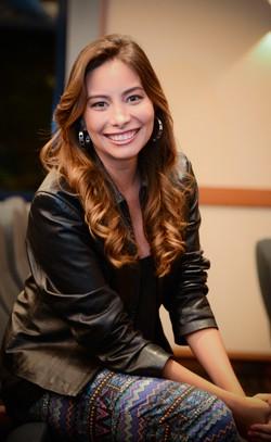 """Marcela, quando entrou para o """"Vídeo Show"""" (Foto: TV Globo)"""