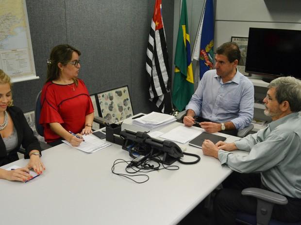 Nogueira discute assuntos de governo com equipe de transição (Foto: Adriano Oliveira/G1)