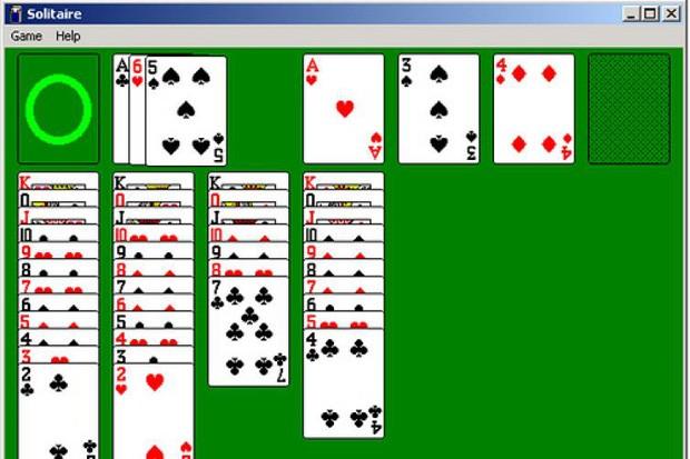 Paciência no Windows 95 (Foto: Reprodução)