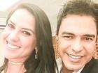 Zezé Di Camargo posta foto com Graciele Lacerda: 'Sorrisos dizem tudo'