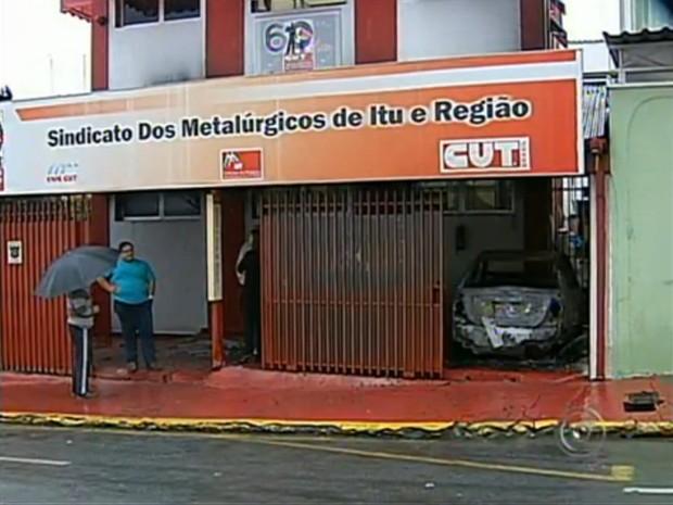 Sindicato dos Metalúrgicos de Itu (Foto: Reprodução/TV Tem)