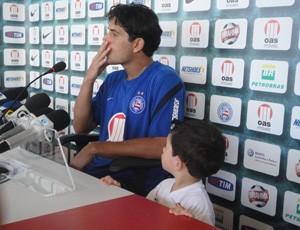 Fahel e o filho joão victor (Foto: Raphael Carneiro/Globoesporte.com)