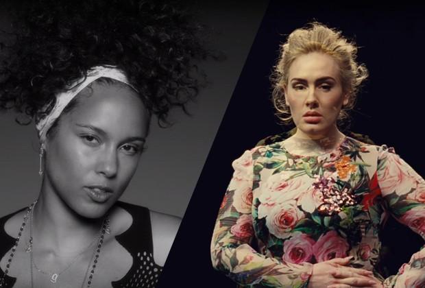 Adele e Alicia Keys (Foto: divulgao)