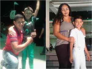 Eliano Lima e Marli Lobato acompanham o filho Jardel (Foto: Marli Lobato/Arquivo Pessoal)