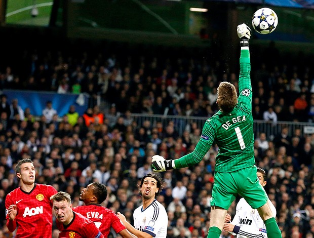 David de Gea na partida do Real Madrid contra o Manchester United (Foto: AFP)