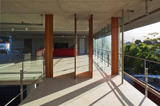 Estruturas leves de concreto garantem visão privilegiada (Foto: Nelson Kon/Divulgação)
