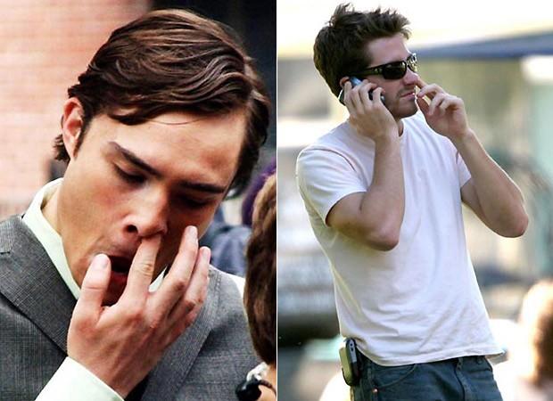 """Eca! Ed Westwick, de """"Gossip Girl"""" (à esq.) e o ator Jake Gyllenhaal (à dir.) (Foto: Reprodução)"""